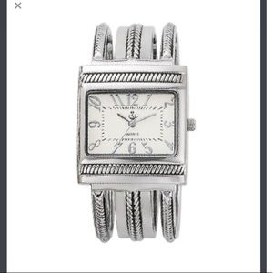 Premier Designs Accessories - Silver Clasp Watch-BRAND NEW BATTERY